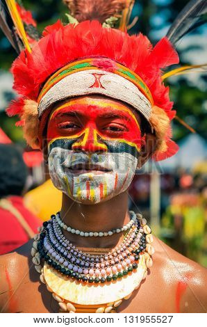 Proud Young Man In Papua New Guinea