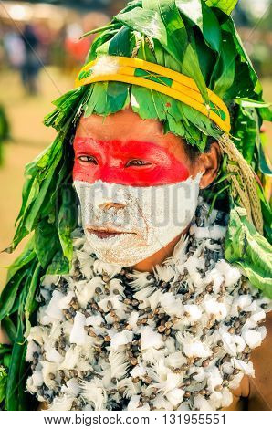 Man With Hat In Papua New Guinea
