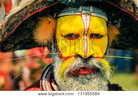 Serious Look Of Eyes In Papua New Guinea