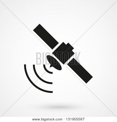 Satellite Icon Black Vector On White Background