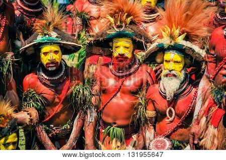 Three Men In Papua New Guinea