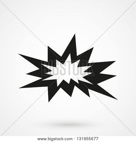 Boom Icon Black Vector On White Background