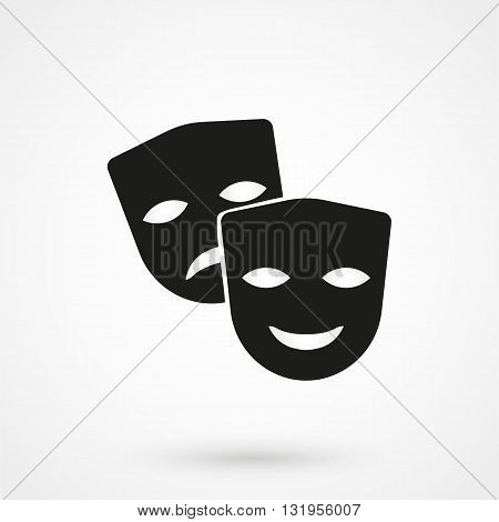 Theater Icon Black Vector On White Background