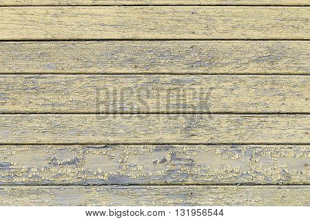 Grey and yellow vintage wooden planks abstract background, copy space