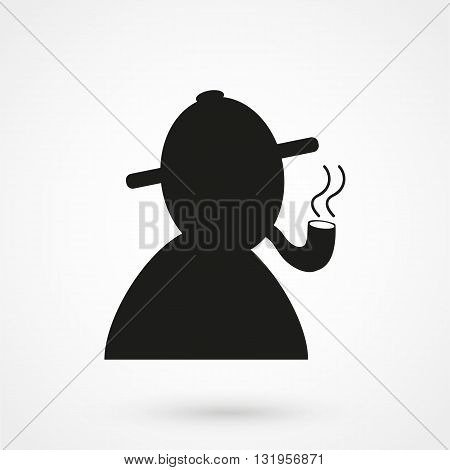 Detective Icon Black Vector On White Background