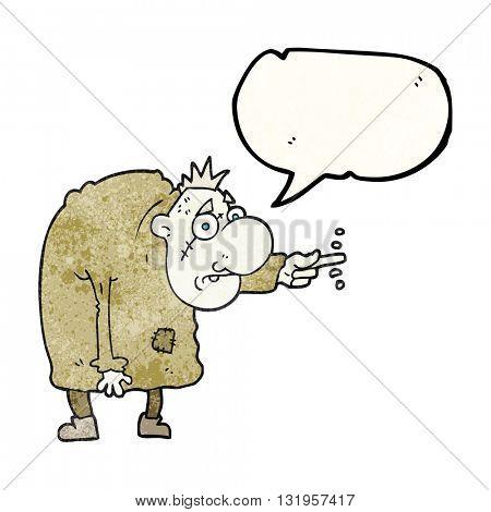 freehand speech bubble textured cartoon igor