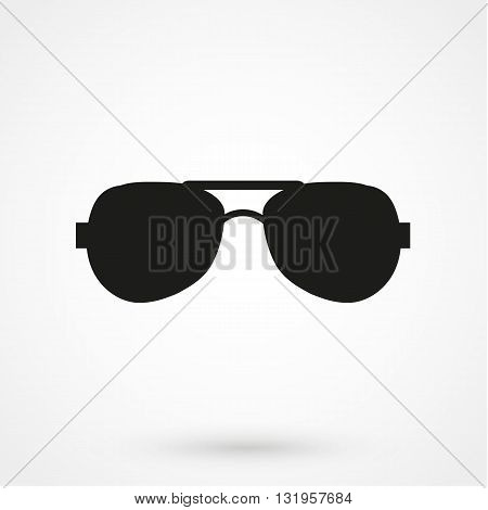 Sunglasses Icon Black Vector On White Background