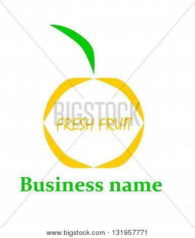 Business fruit logo - modern vector illustration.