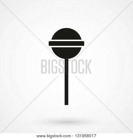 Lollipop Icon Black Vector On White Background