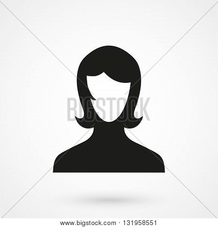 Female User Account Or User Profile Icon