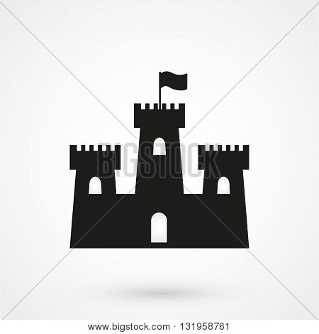 Castle Icon Black Vector On White Background