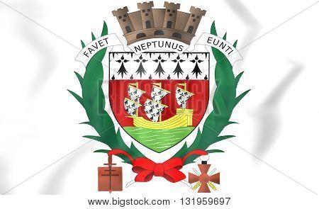Nantes Coat Of Arms, France.