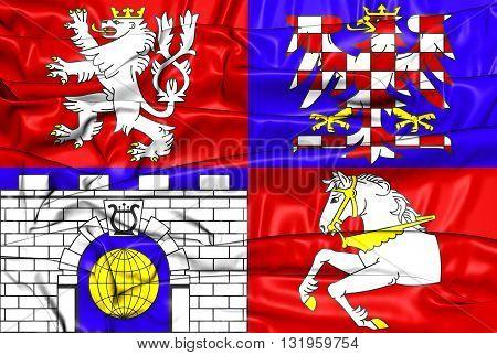 Flag Of Pardubice Region, Czech Republic.