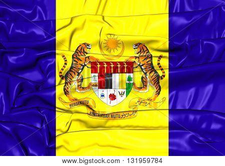 Flag Of Putrajaya, Malaysia.