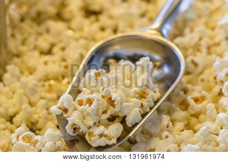 Popcorn in scoop for sale at market