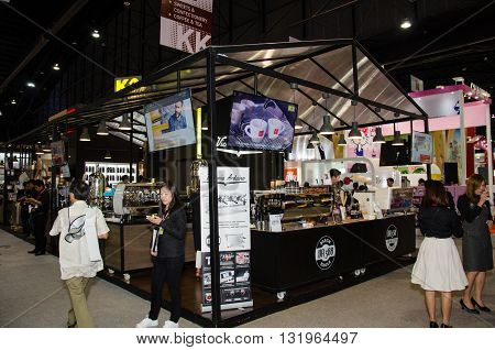 NONTHABURI - MAY 25 : Manufacturer showing products about food industry in during exhibition of THAIFEX - World of food ASIA 2016 on May 25 2016 in Nonthaburi Thailand.