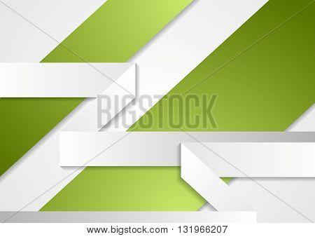 Green grey paper corporate brochure design. Vector tech brochure background illustration. Concept flyer