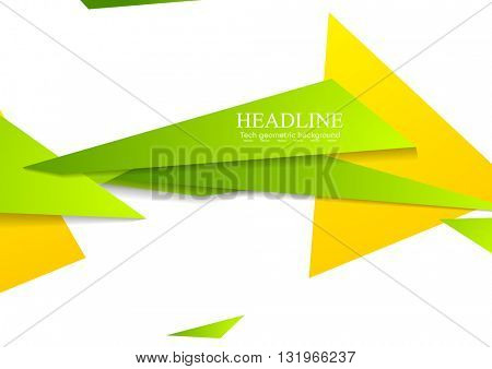 Bright tech corporate shapes abstract background. Vector geometric design