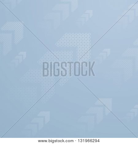 Blue tech business background with arrows. Vector design