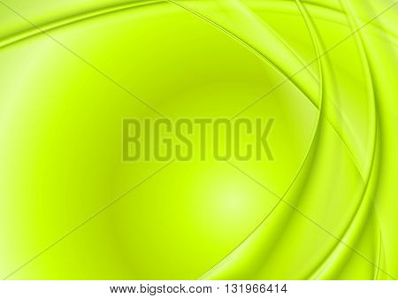 Bright green wavy background. Vector design illustration