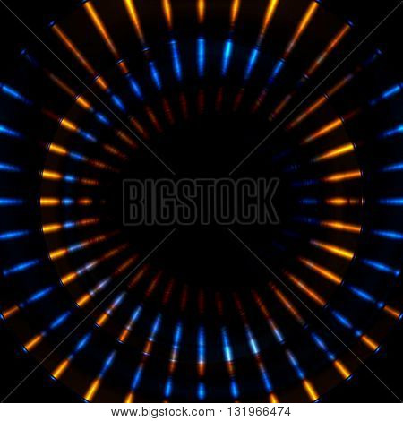 Bright glowing beams stripes vector illustration. Abstract shiny background