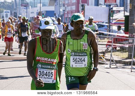 Spectators And Runners At Comrades Marathon In Durban 20