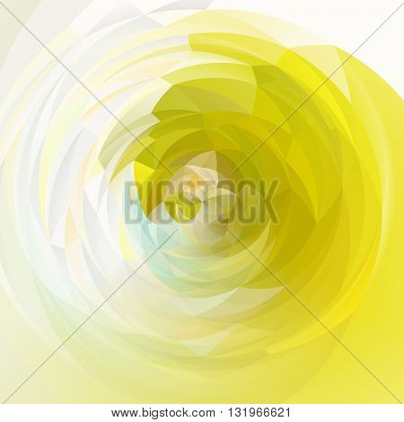 abstract modern artistic rounded floral shapes background - bright white yellow and green colors