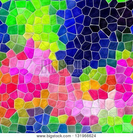 mosaic highlight vibrant infra color full spectrum pattern texture background with gray grout
