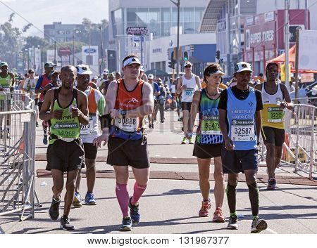 Spectators And Runners At Comrades Marathon In Durban 16