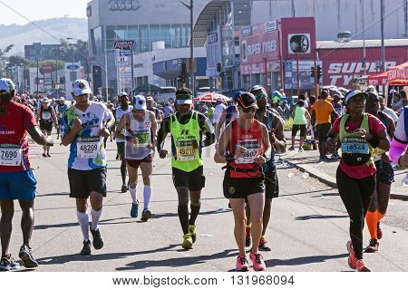 Spectators And Runners At Comrades Marathon In Durban 12