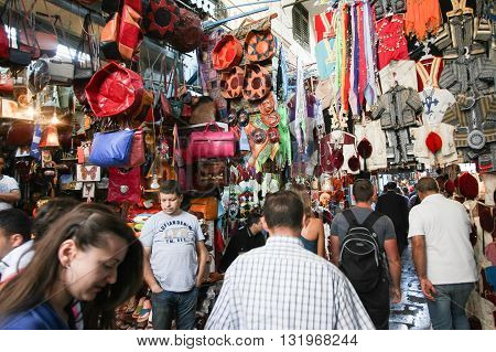 People Shopping In Medina