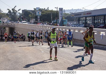 Spectators And Runners At Comrades Marathon In Durban 11