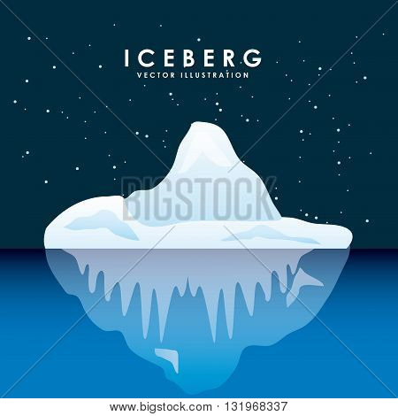 iceberg glacier design, vector illustration eps10 graphic