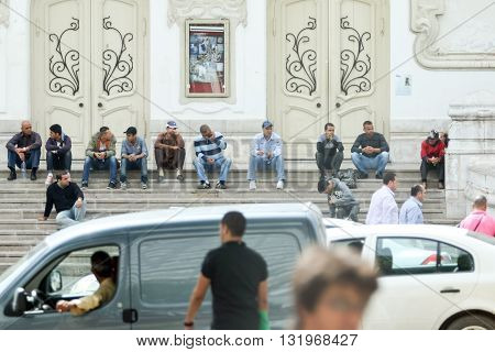Muslim Men In Tunis