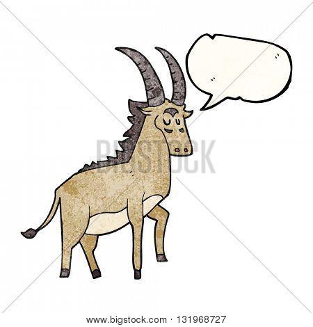 freehand speech bubble textured cartoon antelope
