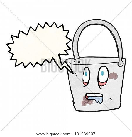 freehand speech bubble textured cartoon bucket