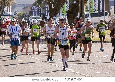 Spectators And Runners At Comrades Marathon In Durban 1