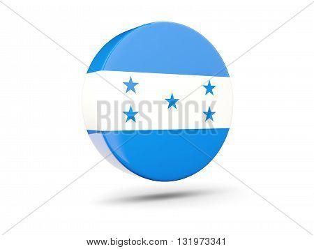 Round Icon With Flag Of Honduras