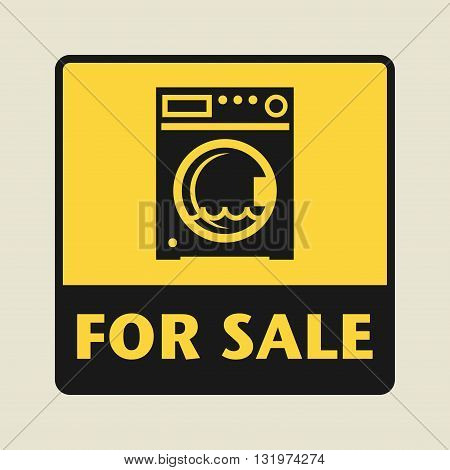 Wash machine For Sale icon or sign vector illustration