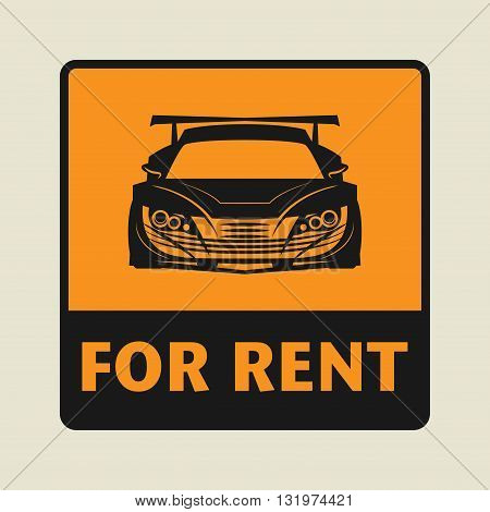 Car For Rent icon or sign vector illustration