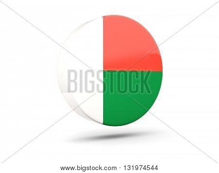 Round Icon With Flag Of Madagascar