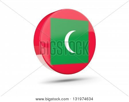 Round Icon With Flag Of Maldives