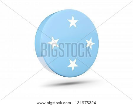 Round Icon With Flag Of Micronesia