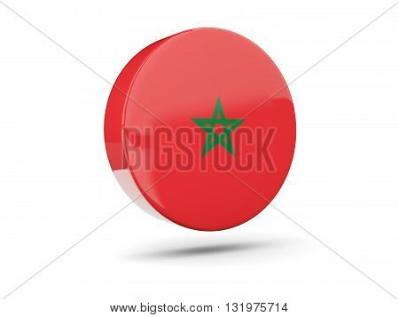 Round Icon With Flag Of Morocco