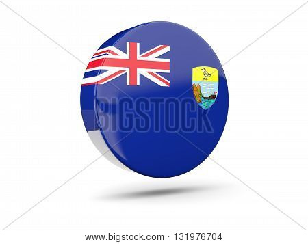 Round Icon With Flag Of Saint Helena
