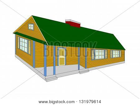 Country house, drawing design  - vector illustration.