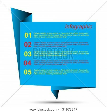 Modern design template, can be used for info-graphics,graphic or website layout vector.
