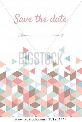 Vector illustration of Save the Date card.