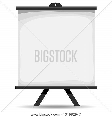 Vector Illustration of Blank white Projector Screen