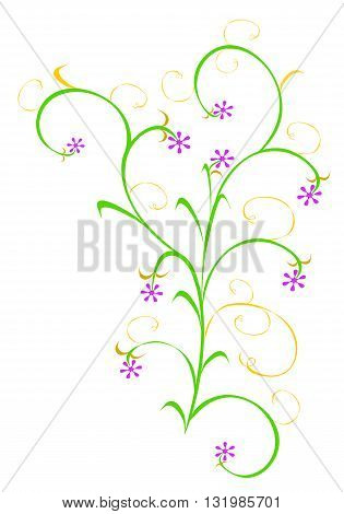 Floral design with flowers - vector illustration.